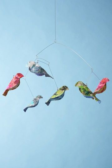 Recycled Bird Mobile