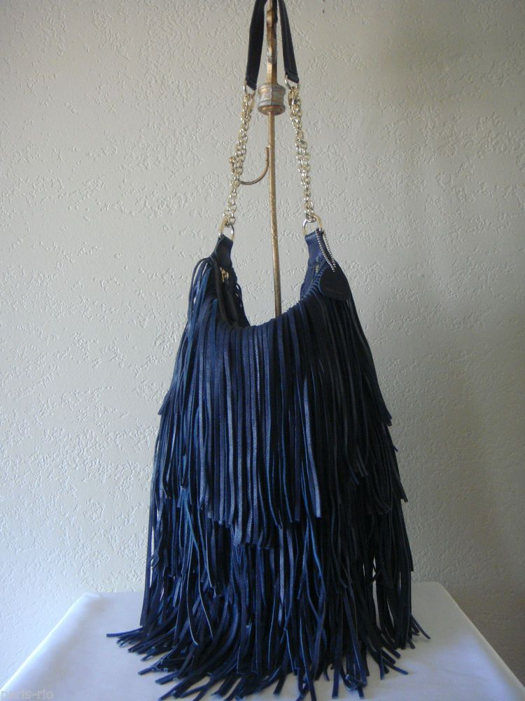 3745945f1ec7 New LOST   FOUND Leather Fringe Hobo. Normally I m not crazy about fringe  but this one is so .... luxuriant with its fringy-ness