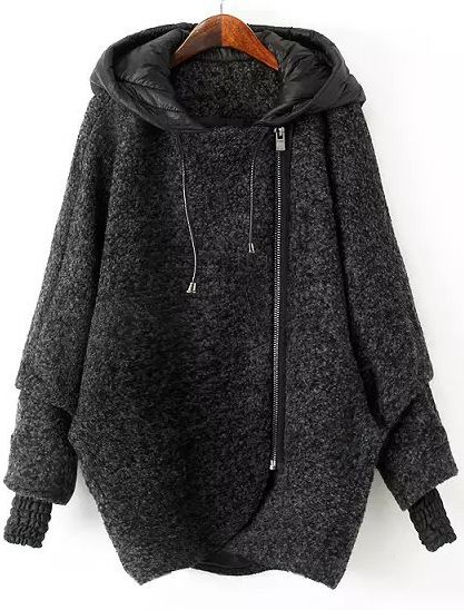 XQS Womens Coat Outwear Sweatshirt Top Fuzzy Fleece Pullover Jacket