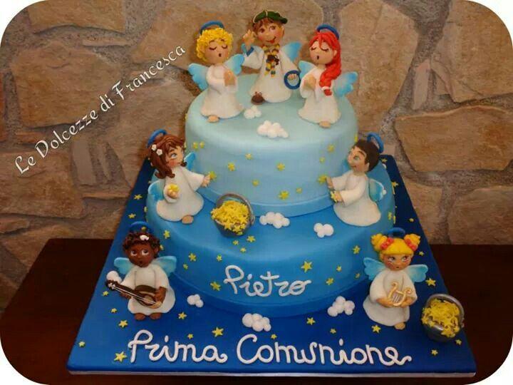 Conosciuto Torta prima comunione angeli | Le mie dolci creazioni ♡ | Pinterest BF58