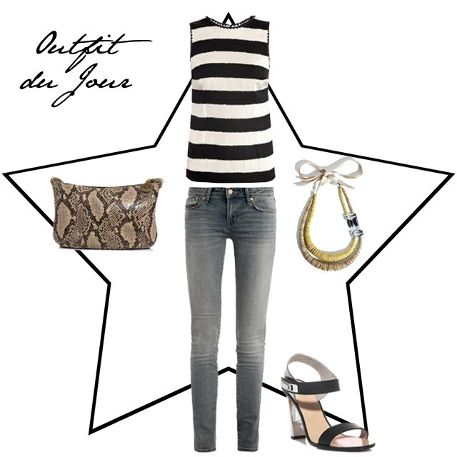 Fashion Foie Gras: Outfit du Jour: Sitting pretty in stripes from Dol...