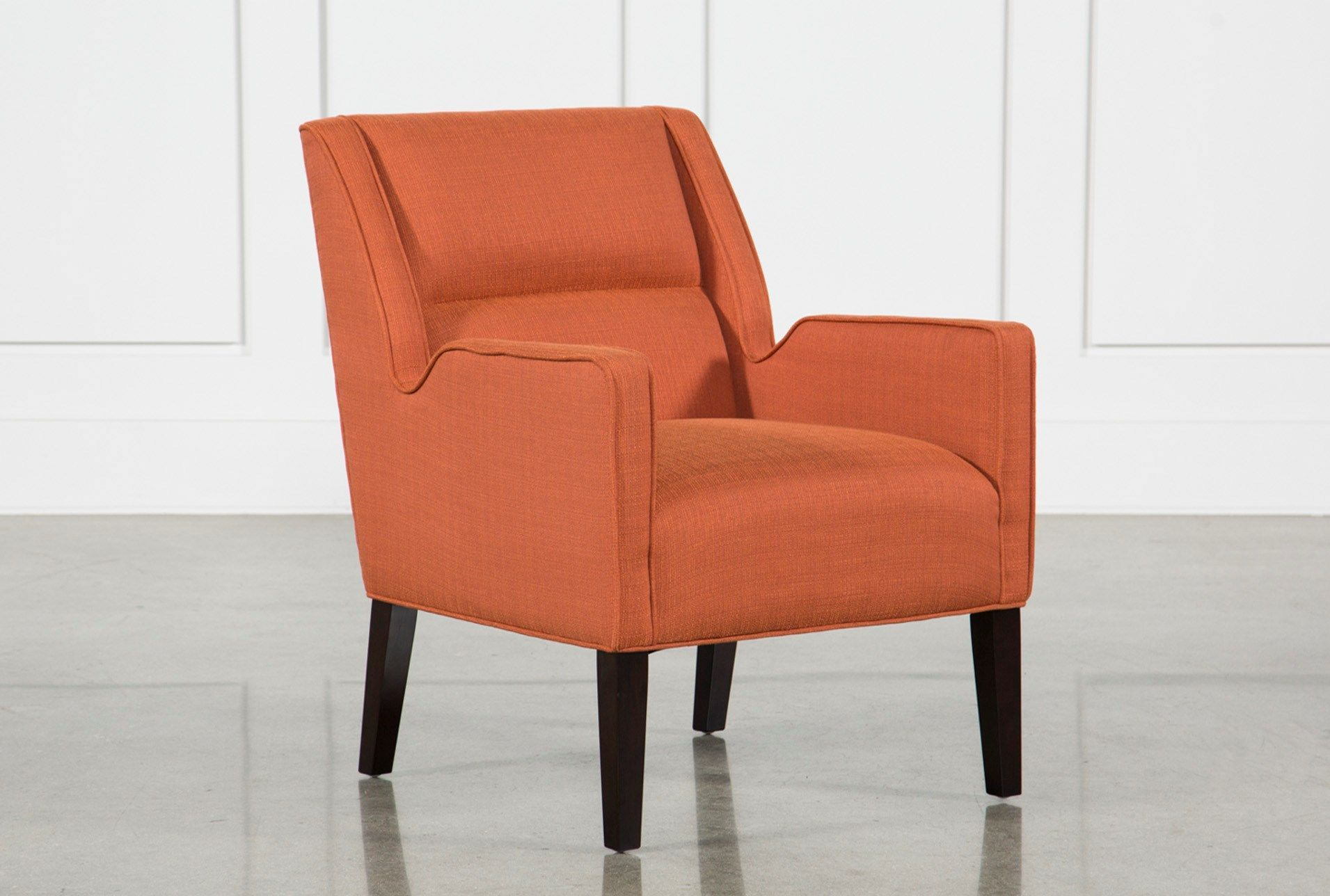 Shop For Reid Orange Accent Chair At Livingspaces Com Enjoy Free