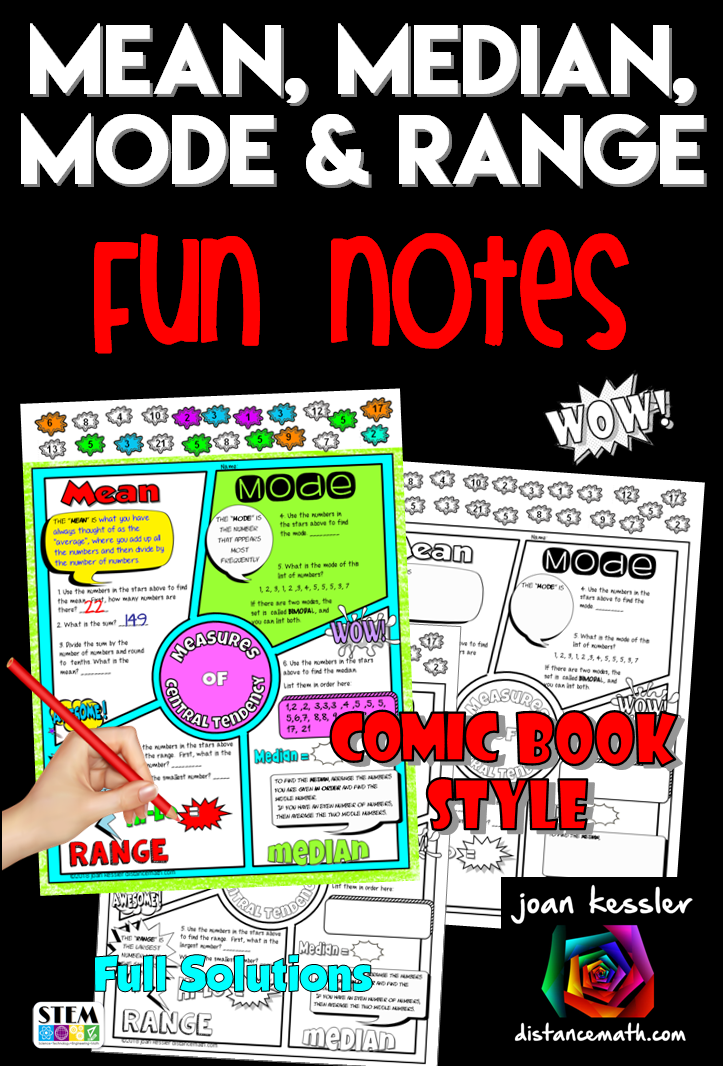 Measures Of Central Tendency Fun Notes Doodle Pages Also For