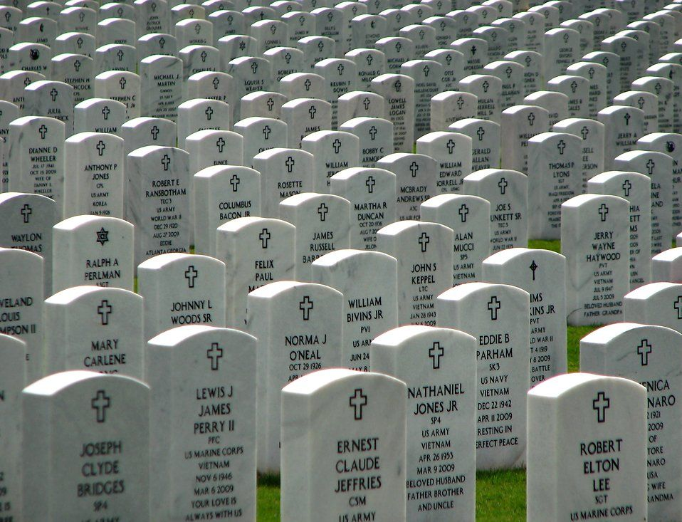 Rows of heros at the Georgia National Cemetery ...