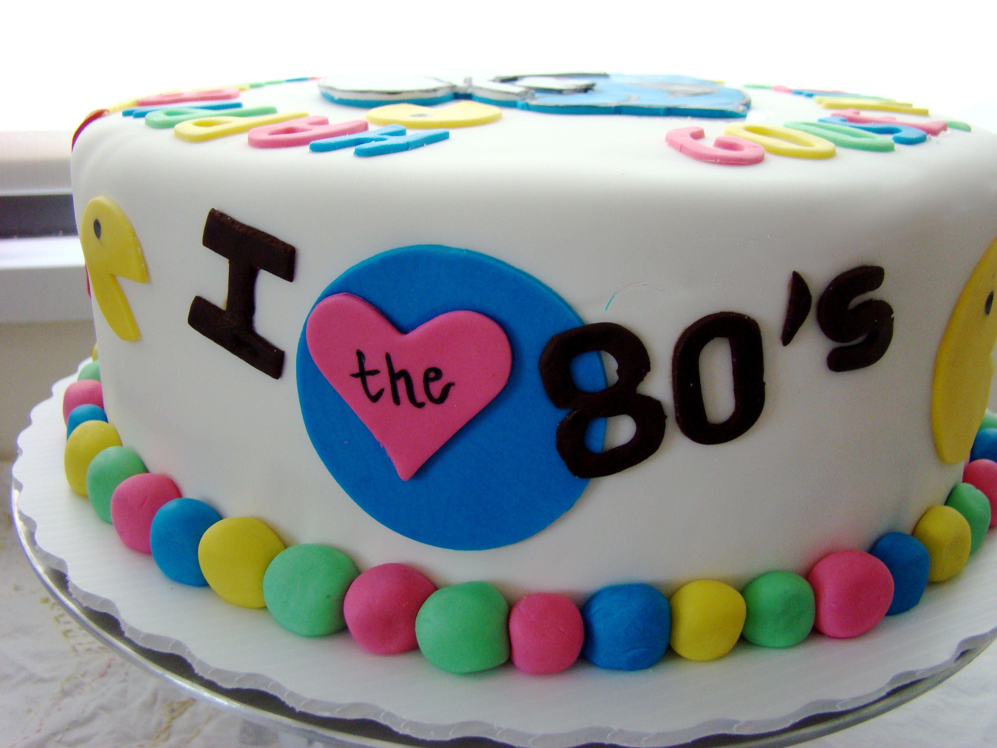 Excellent 80S Easy Birthday Cakes 80S Themed Birthday Cake Cakery Cakes Funny Birthday Cards Online Elaedamsfinfo