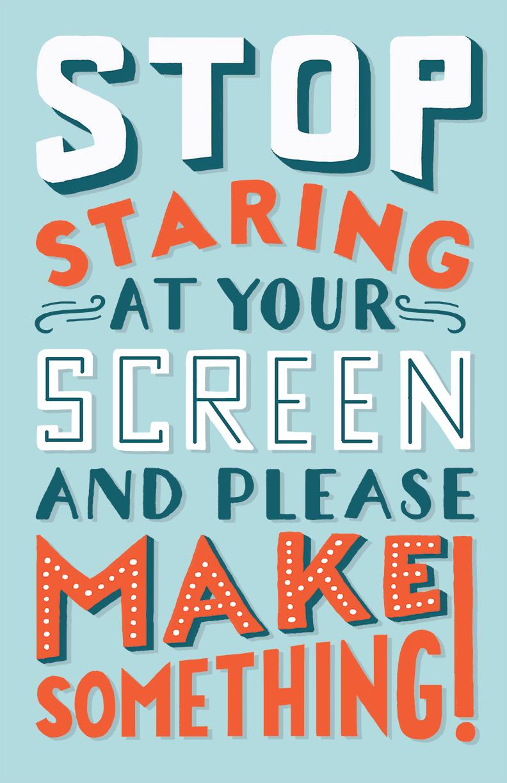 Make Something - Hand Lettered Poster