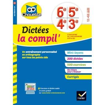 Dictees La Compil 6eme 5eme 4eme 3eme Workbook
