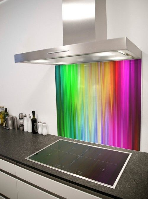 spectrum rays printed glass splashback from diysplashbacks. Black Bedroom Furniture Sets. Home Design Ideas