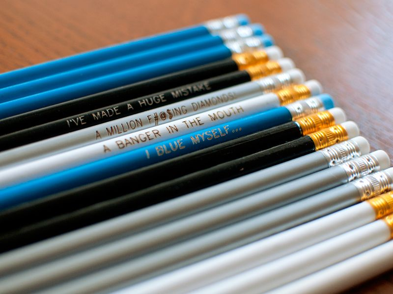 Arrested Development Engraved Pencils by Earmark Social, 12 pencils in 4 fun phrases!