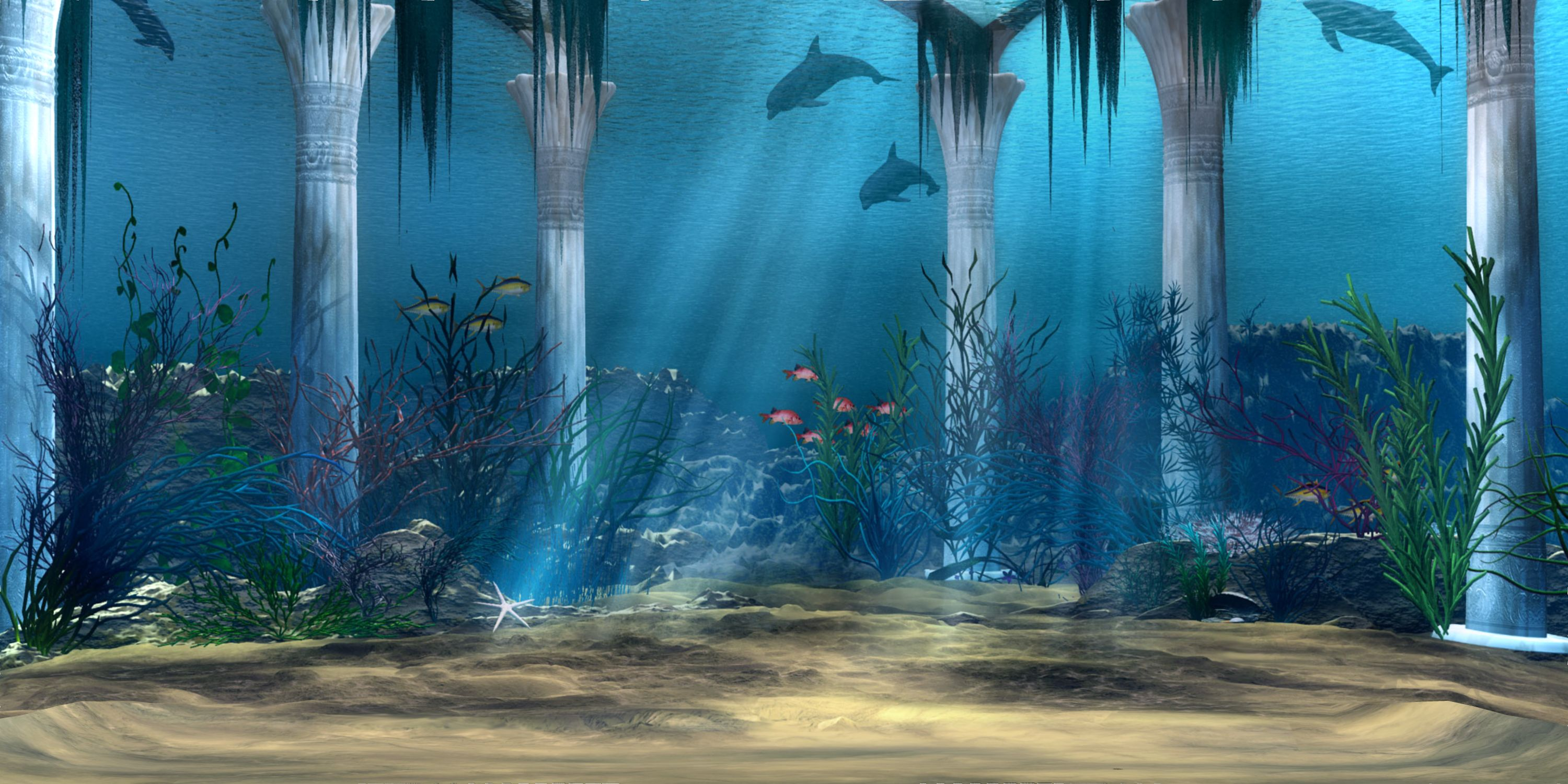 under water background Underwater 3D Background Stock