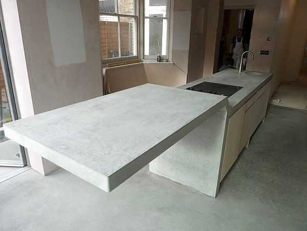 Best London Sw2 Concrete Countertop White Reid By Chris 400 x 300