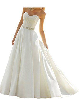 Victory Bridal Elfenbein Elegant Herzausschnitt Hochzeitskleider ...