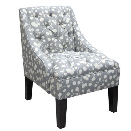 Accent Chair in Gray & White for the office