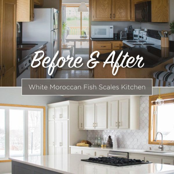 White Kitchen Remodels Before And After: White Moroccan Fish Scales Kitchen