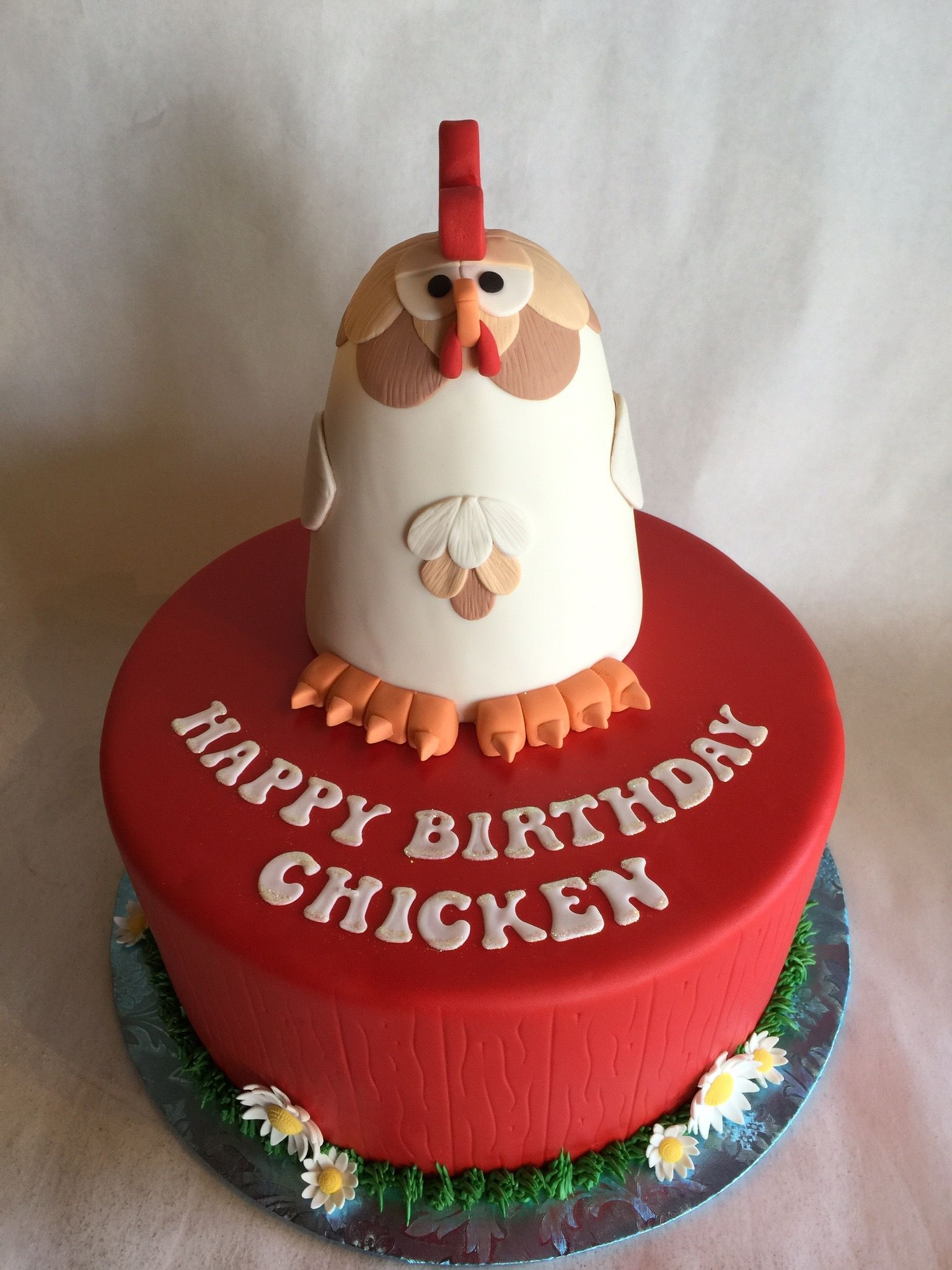 Custom Cake Birthday Cake Fondant Barn wood custom topper