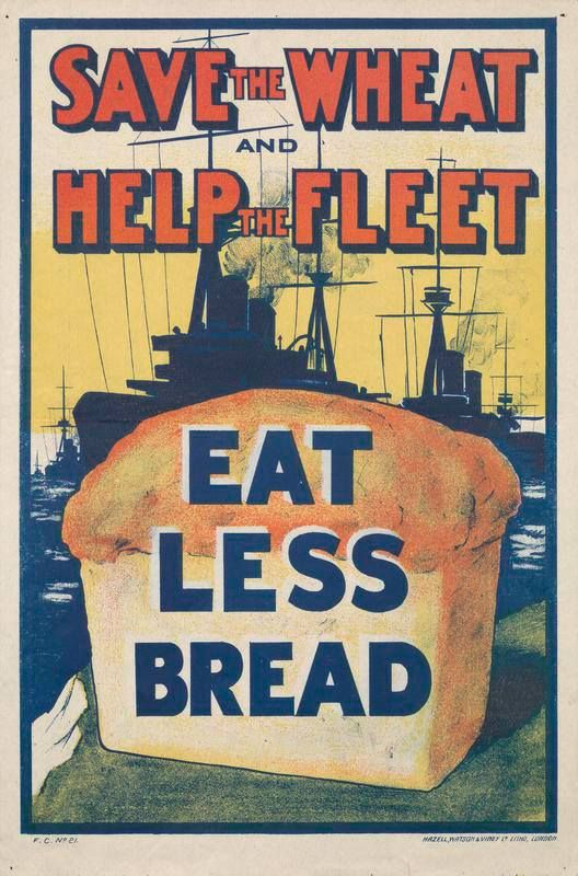 Kunstplakate SAVE ALL WASTE PAPER AND SAVE SHIPPING SPACE British WW1 Propaganda Poster