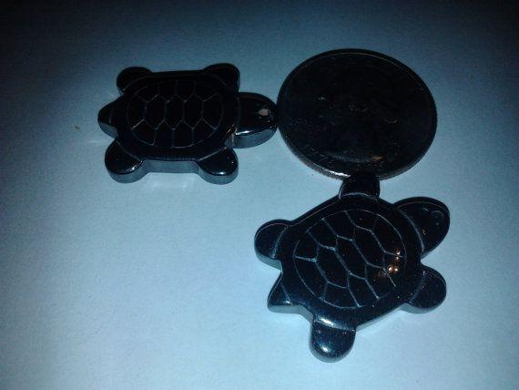 Hematite Turtle Pendant by EphemerasLanding on Etsy, $3.00