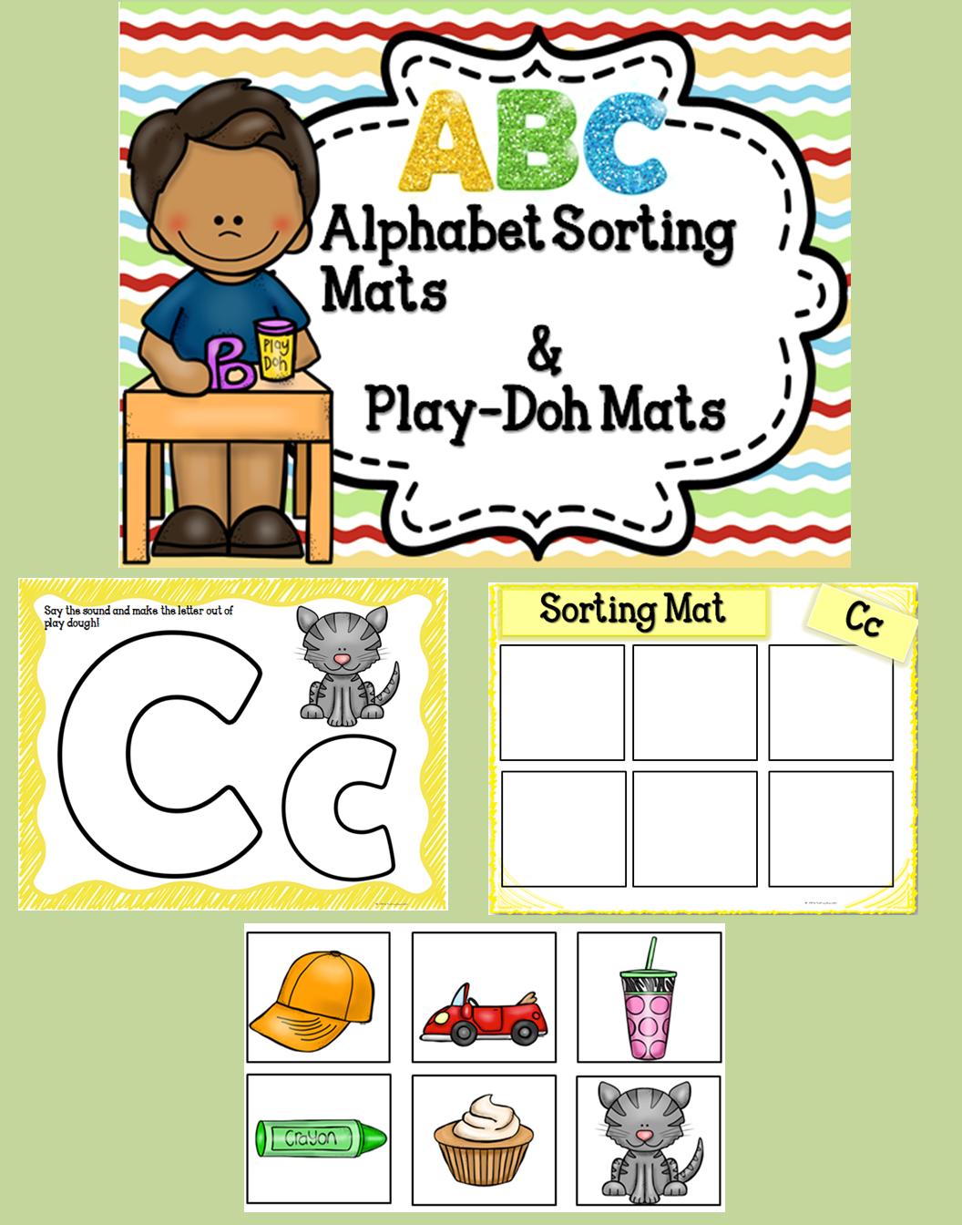 Alphabet Play Dough And Sorting Mats
