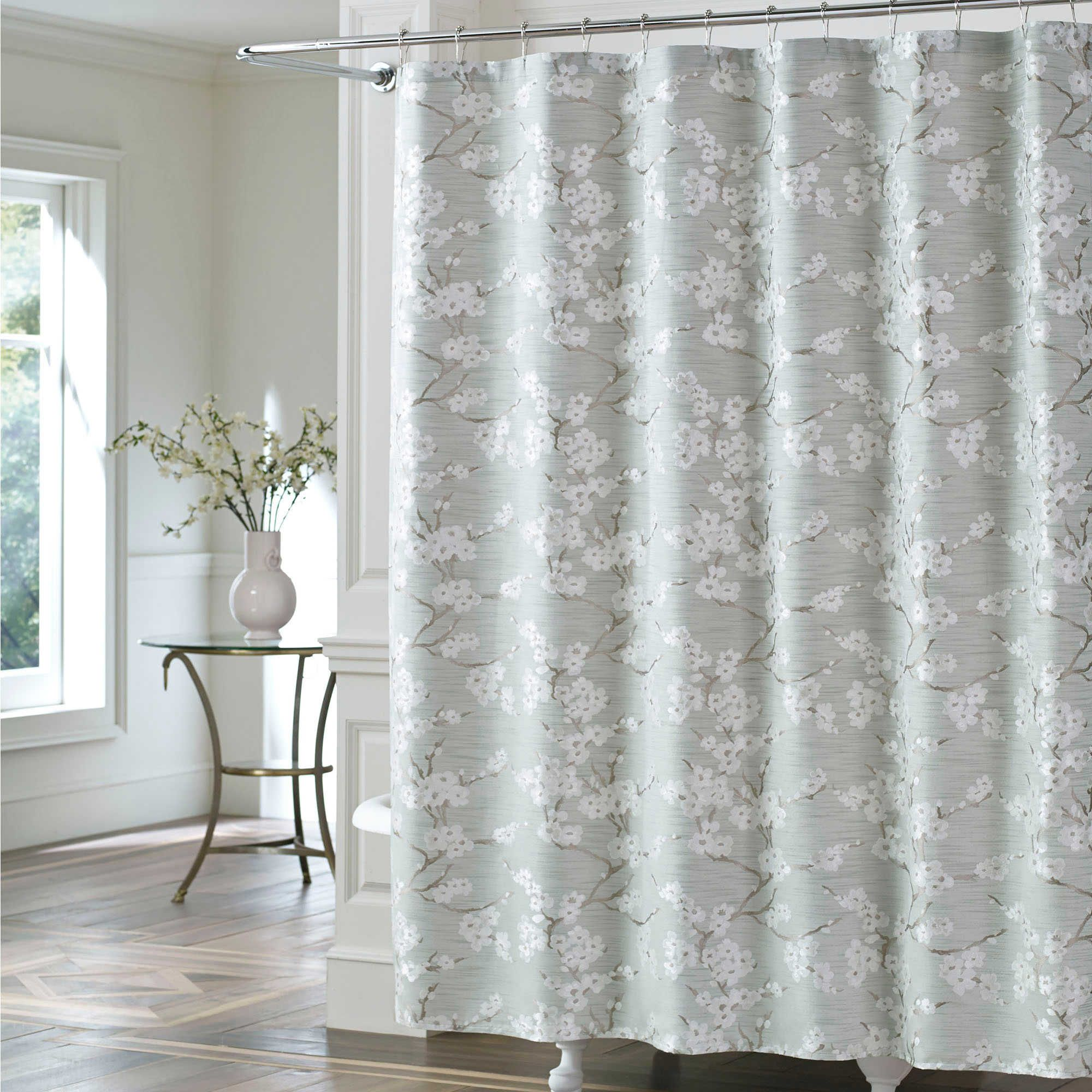 J Queen New York Trade Mika Shower Curtain In Sea Foam With