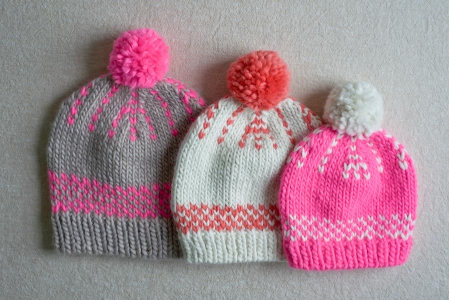 Purl Soho free knitting pattern - Friendly Fair-isle Hat | Knitting ...
