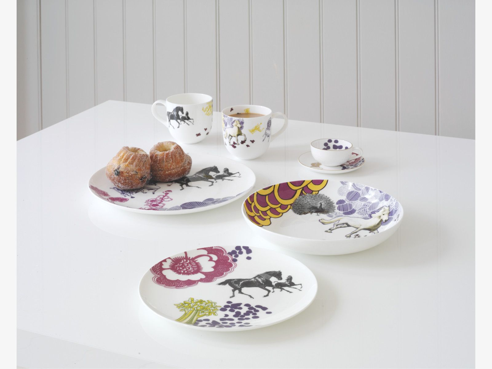 Concetta Multi Coloured Bone China Pasta Plate Horse Pea Habitatuk