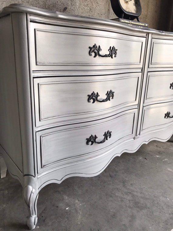 French Provincial Dresser/Gray Dresser/Silver Dresser ...