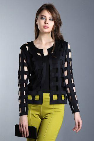 386-SATEEN 110-LAZER KESİM CEKET #sateencom #fashion #style www.sateen.com.tr
