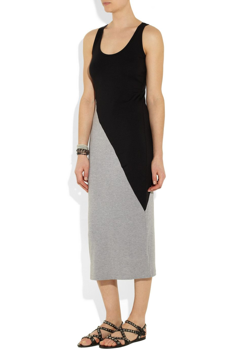 Kain | Brenna two-tone stretch-jersey dress | NET-A-PORTER.COM