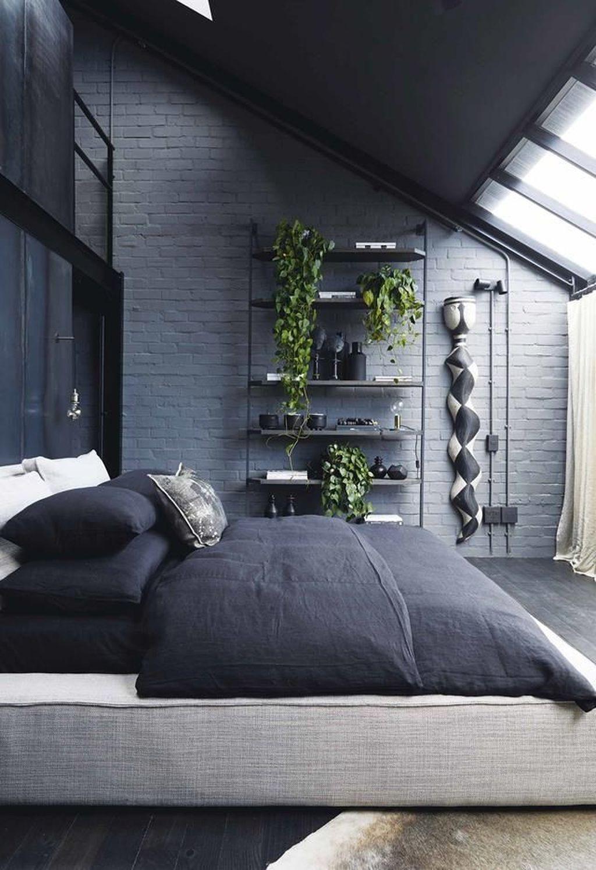 41 Wonderful Industrial Style Bedroom Design Ideas That Looks Elegant In 2020 Industrial Style Bedroom Stylish Bedroom Industrial Decor Bedroom