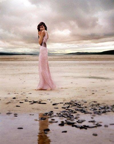 Wedding Ideas: pink-coastal-wedding-dress