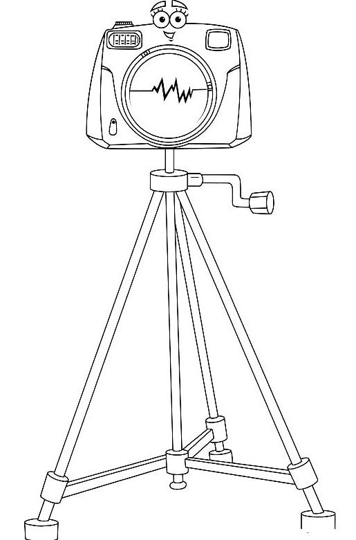 This Camera Is Called Click Coloring Pages Diego Coloring Pages