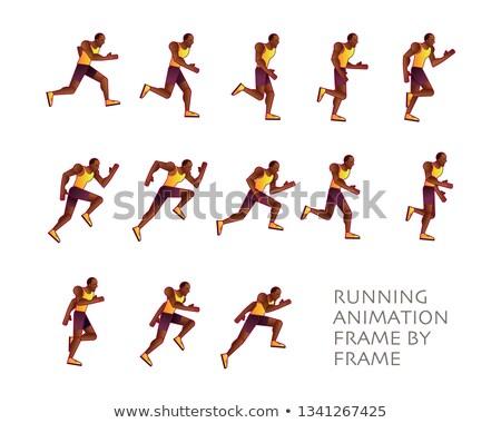 Man Run Cycle Animation Sprite Sheet Running Animation Frame By Frame Vector Run Cycle Sprite Animation