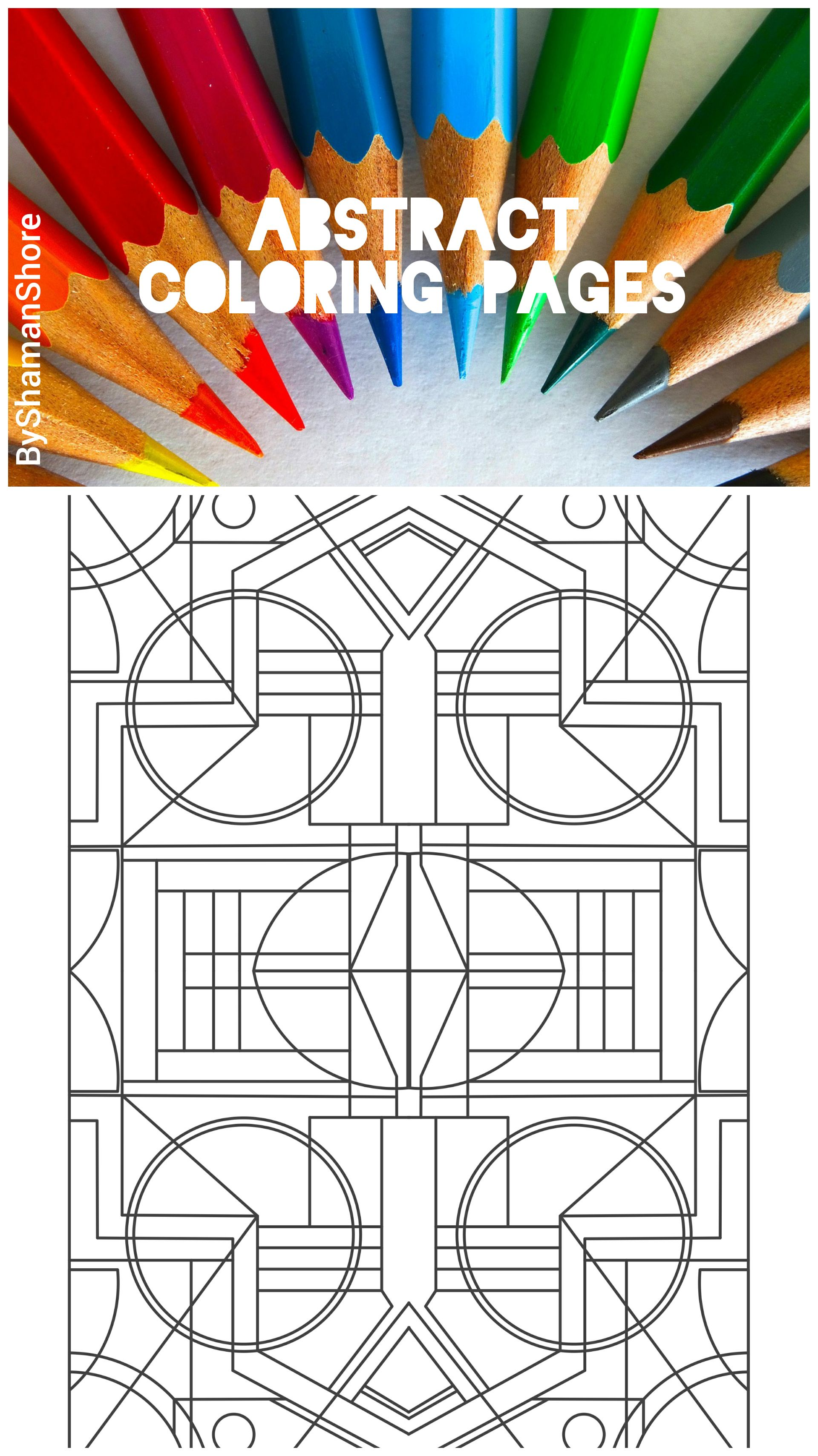 Adult coloring book abstract adult coloring pages