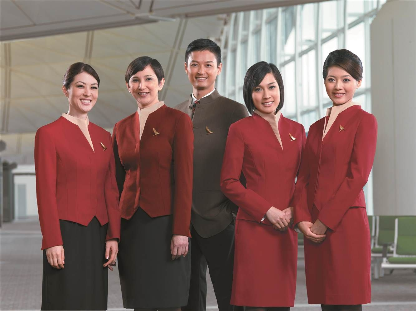 Image result for Cathay Pacific cabin crew uniform