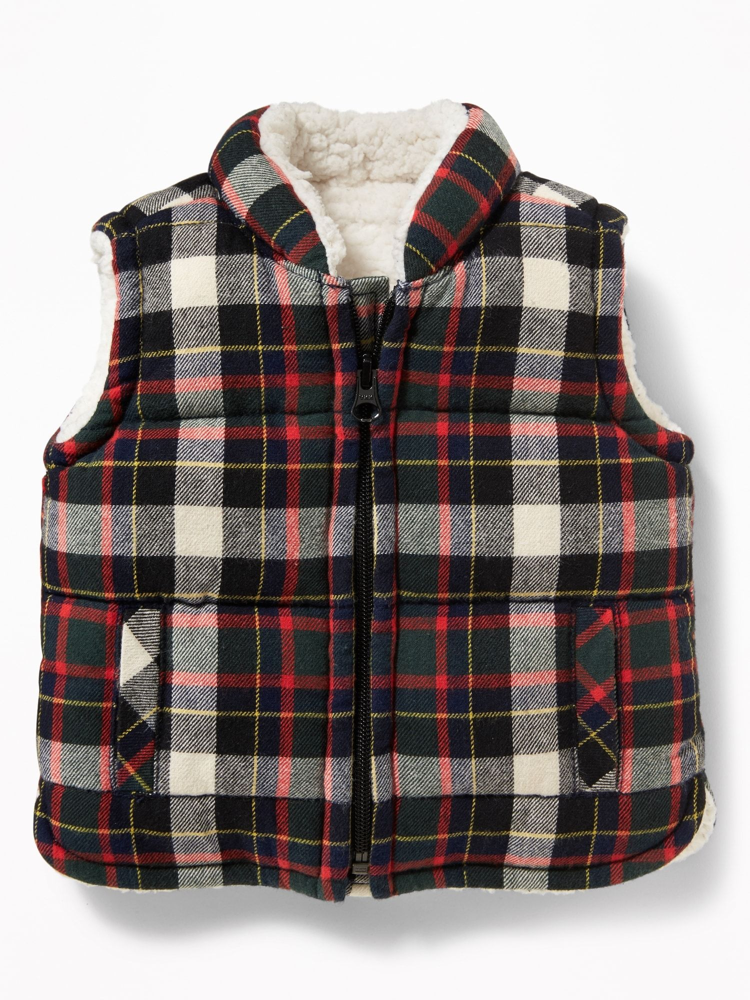 212d7b83 Frost-Free Sherpa-Lined Flannel Vest for Baby | Old Navy | My future ...