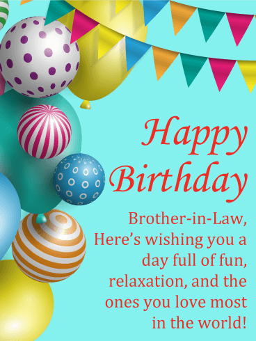 Floating Fun Happy Birthday Card For Brother In Law Birthday Greeting Cards By Davia Birthday Cards For Brother Birthday Brother In Law Birthday Greeting Cards
