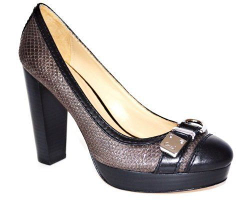 3720644a5 Coach Tinsley Women s Metallic Emb. Pewter Heel Pump Shoes
