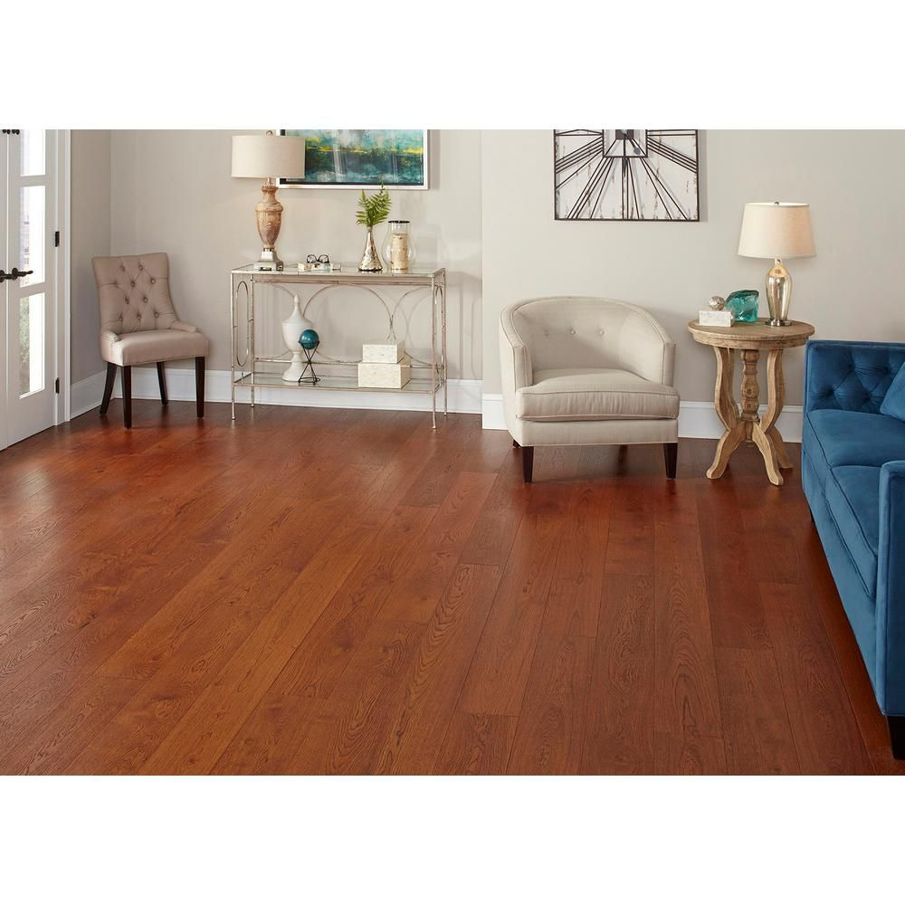 Home Legend Wire Brushed Gunstock Oak 3 8 In T X 7 1 2 In Wide X Varying Length Click Lock Hardwood Flooring 30 92 Sq Ft Case Hl316h The Home Depot Wood Floors Wide Plank