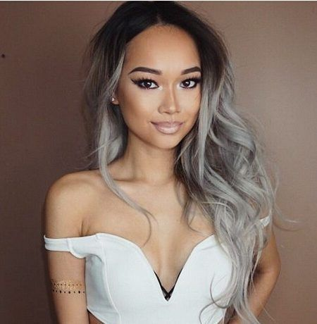 Grey Hair With Black Roots 2017 450x460 Jpg 450 460 Fitness