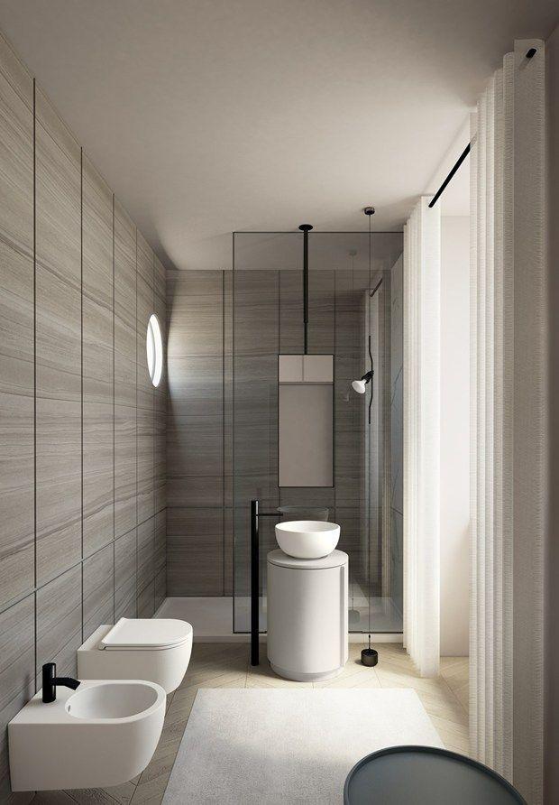 Arcadia essenzialit e legno Bathroom Interior DesignInterior