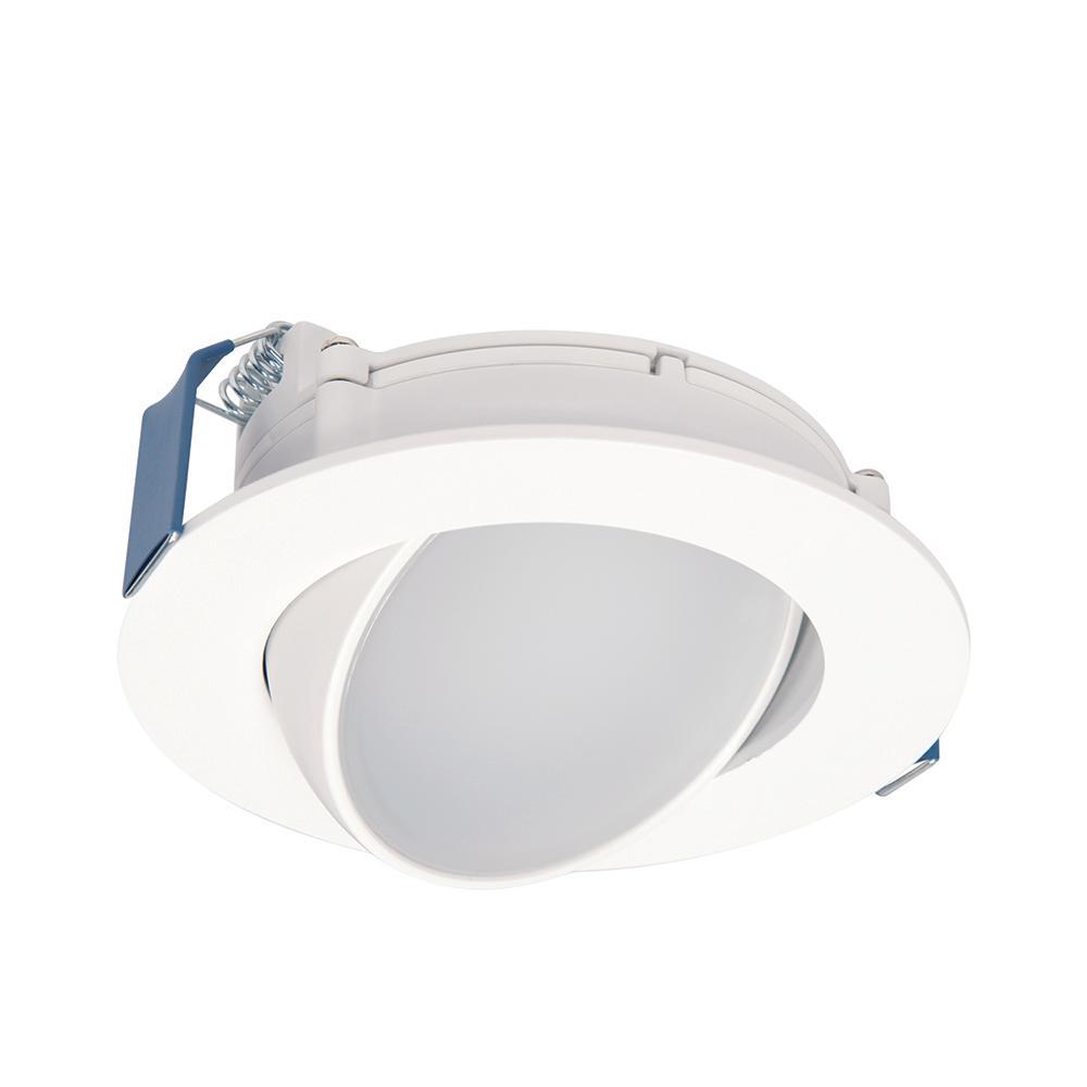 Halo Hla4 4 In 2700k 5000k Selectable Color Temperature Integrated Led Recessed Canless Wide Beam Adjustable Gimbal Trim Hla406vw Led Kit 5000k Led Can Lights