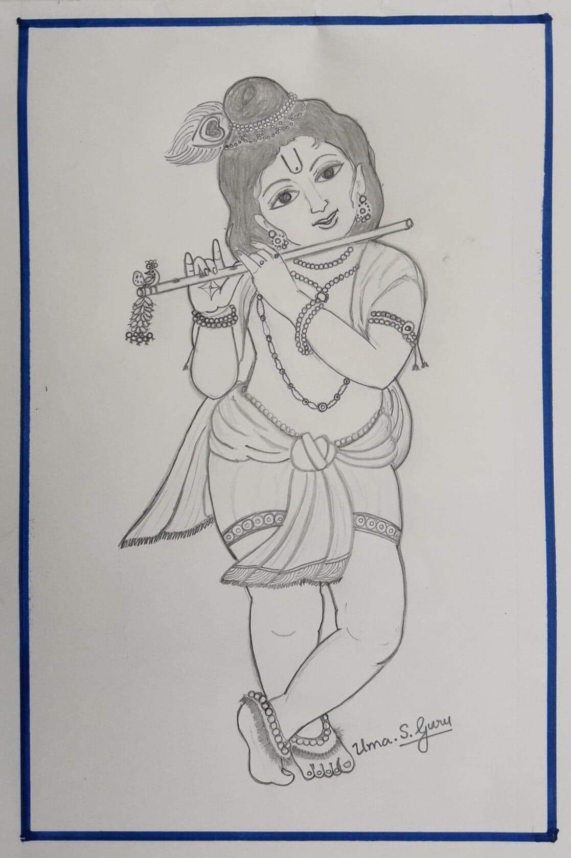 Easy lord murugan pencil drawing dedemax