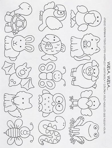 Fichas Para Ninos 8 Detounpocoo Coloring Pages Quilt Patterns Embroidery Alphabet