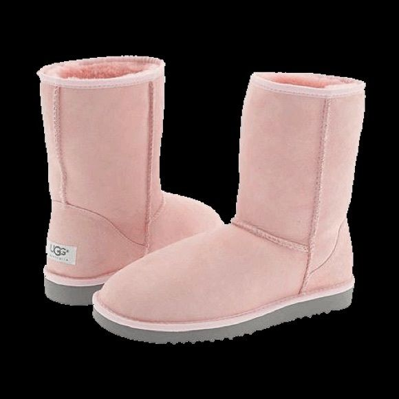 Pink Uggs-Price negotiable kids classic baby pink ugg with light gray bottom, kids size 5 women's size 7, comes with original box. price negotiable UGG ...