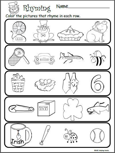 March Kindergarten Worksheets Kindergarten Worksheets Rhyming Words Rhyming  Worksheet – Cute766