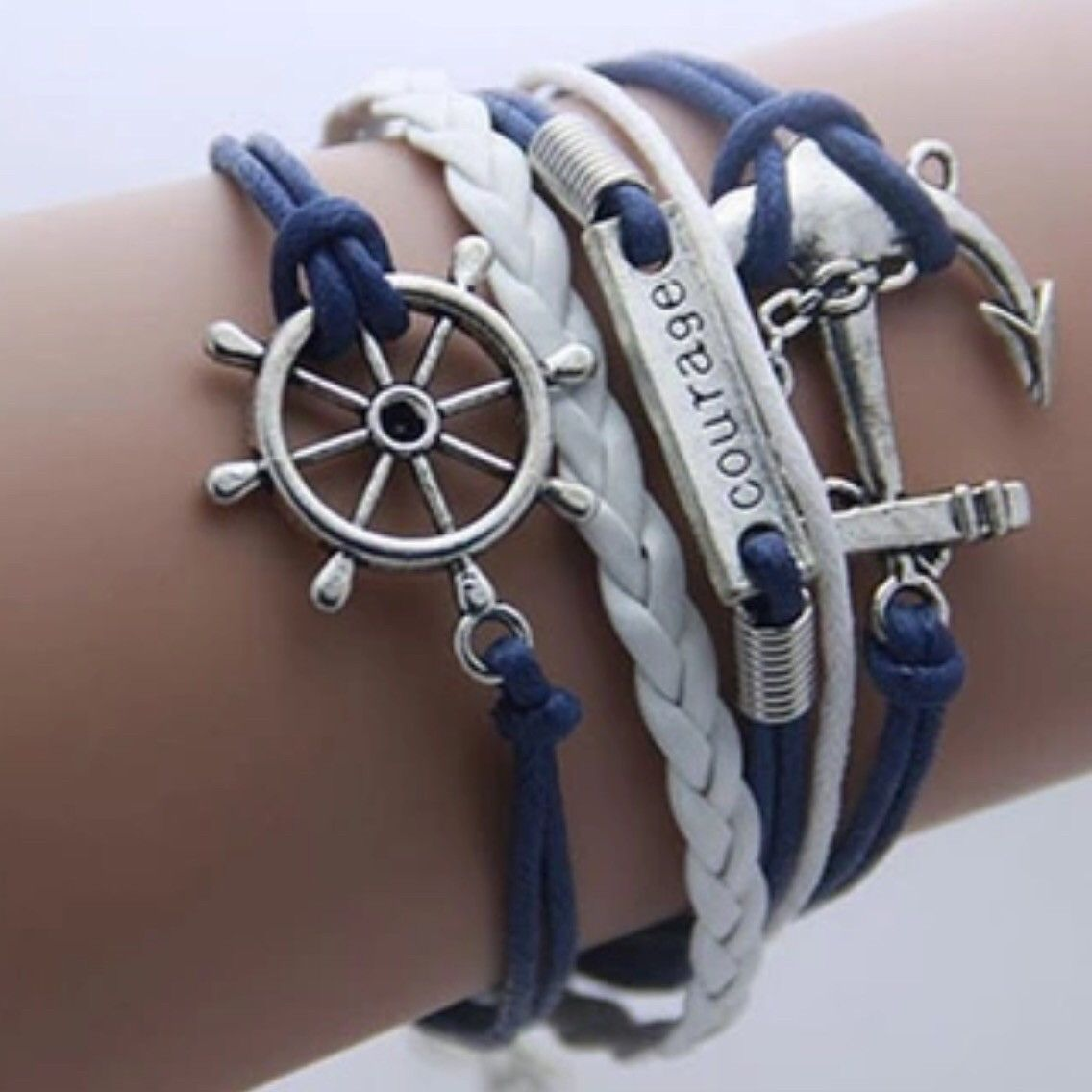 Bohemian bracelet anchor logo pinterest leather bracelets