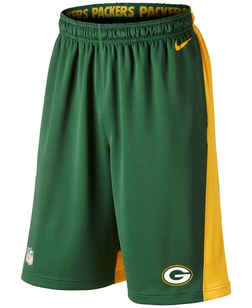 Nike Men's Green Bay Packers Fly Xl Dri-fit Shorts