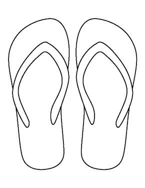 1af5799853cb36 Flip flop pattern. Use the printable outline for crafts