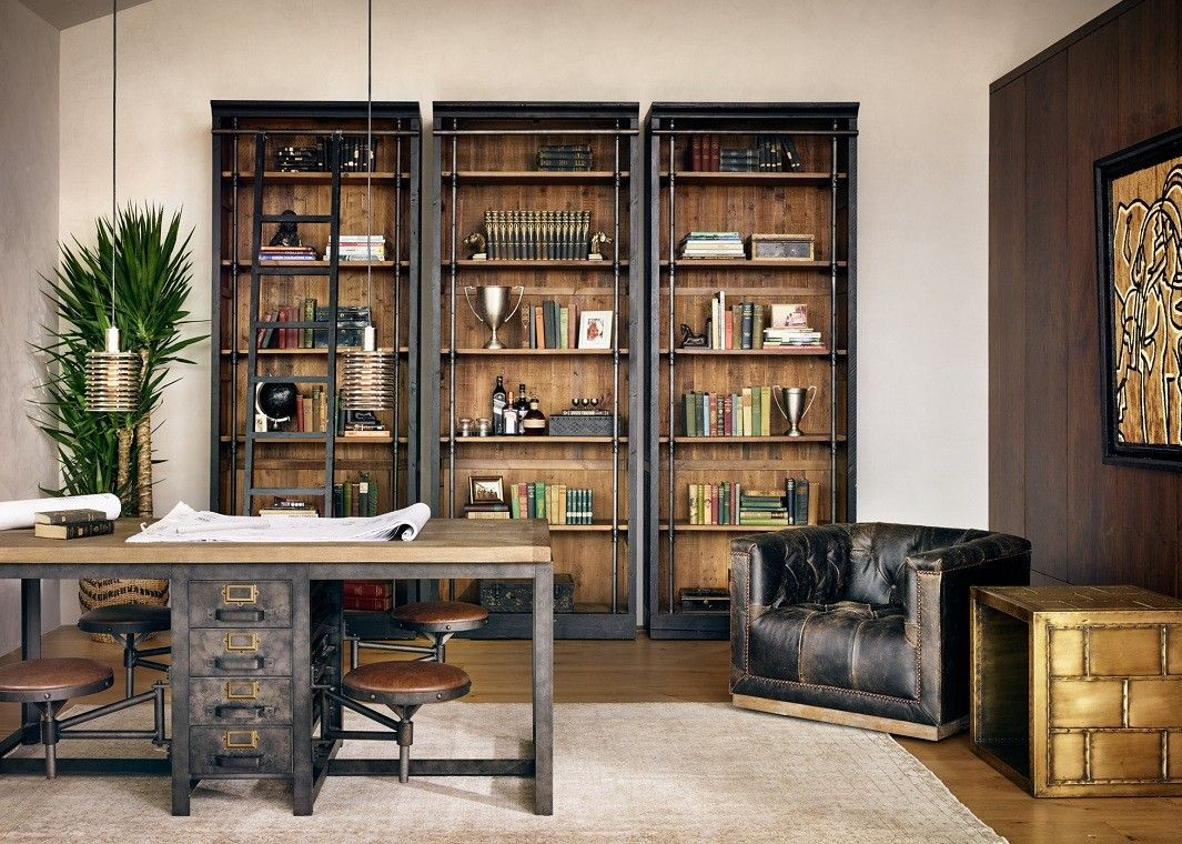 Conference Work Table Wood And Iron in 2020 Home office
