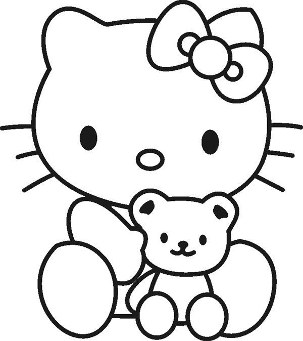 Hello Kitty Coloring Pages Printable #coloringpagestoprint ...